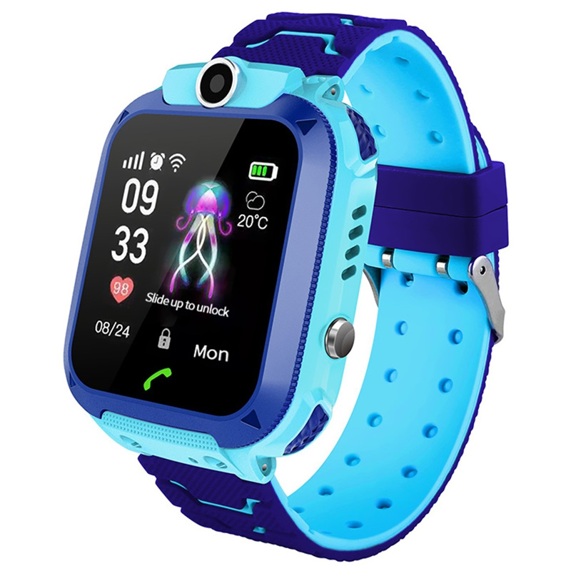 1.44 inch Touch Screen Kids Smart Phone Watch Front-facing Camera SOS Call Safety Zone Alarm