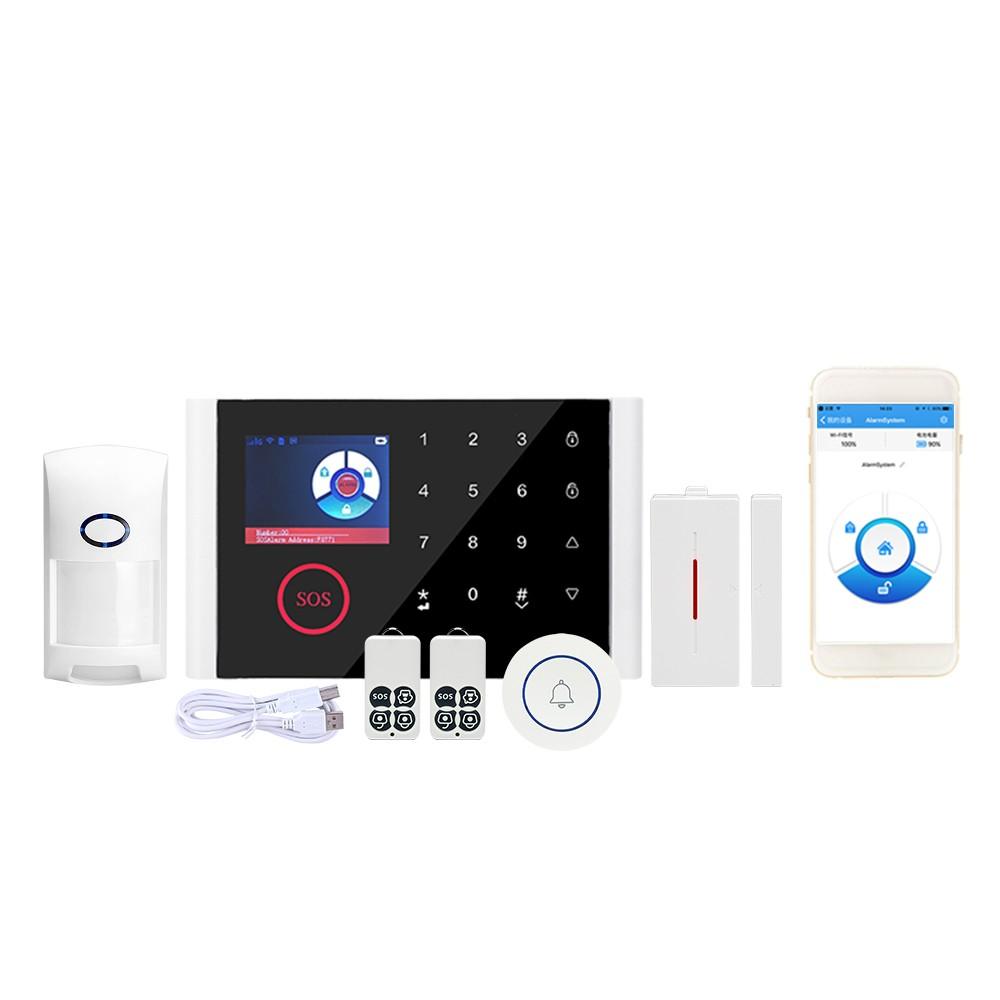 CS108 WiFi+GSM+GPRS 3 IN 1 Network Intelligent Voice Home Alarm System 433MHz Home Secure Door Bell SmartAlertor