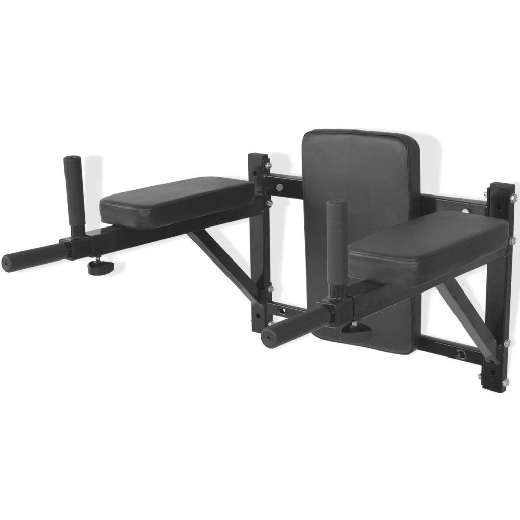 Black wall fitness station