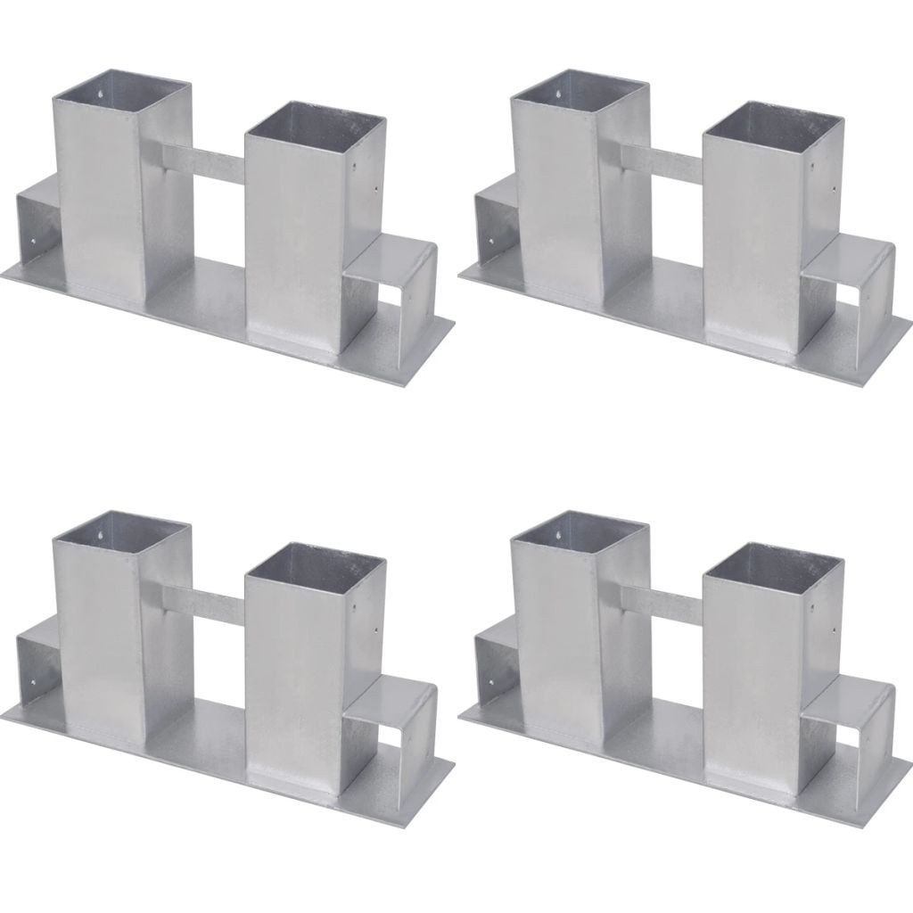 Firewood Stacking Aids 4 pcs Steel Silver