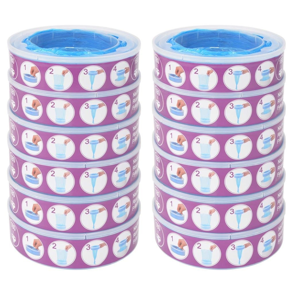 Refill cassettes for Angelcare Diaper Genie 12 pcs