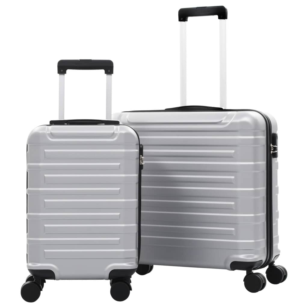 Hard case 2 pcs Silver ABS
