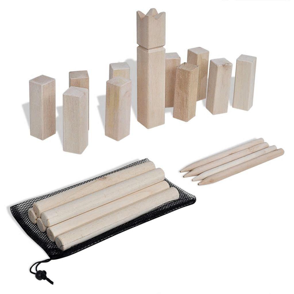 Kubb game Kit wood