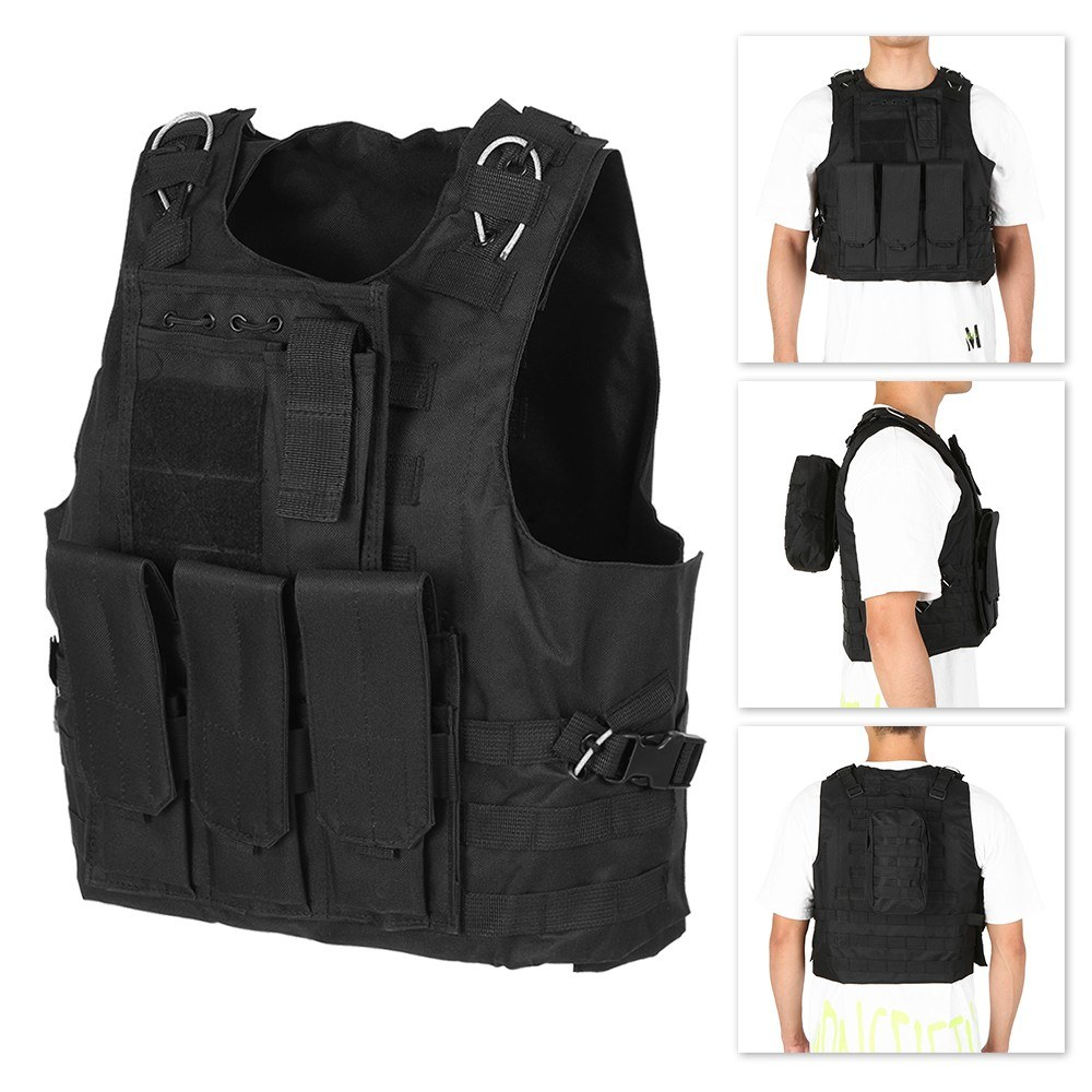 Outdoor Men's Molle Vest Modular Hunting Gear Carrier Vest Adjustable Training CS Gaming Assault Plate Carrier