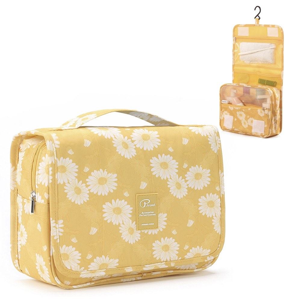 Hanging Toiletry Bag Cosmetic Wash Bag Toiletry Organizer for Hotel Home Bathroom Airplane Business Travel