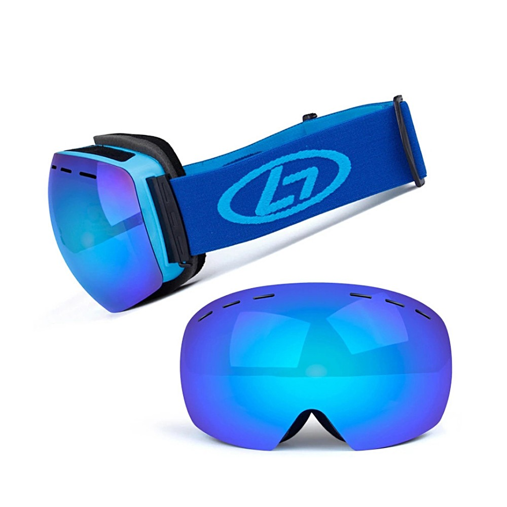Magnetic Snowboard Snow Goggles Double-Layer Anti Fog Lens
