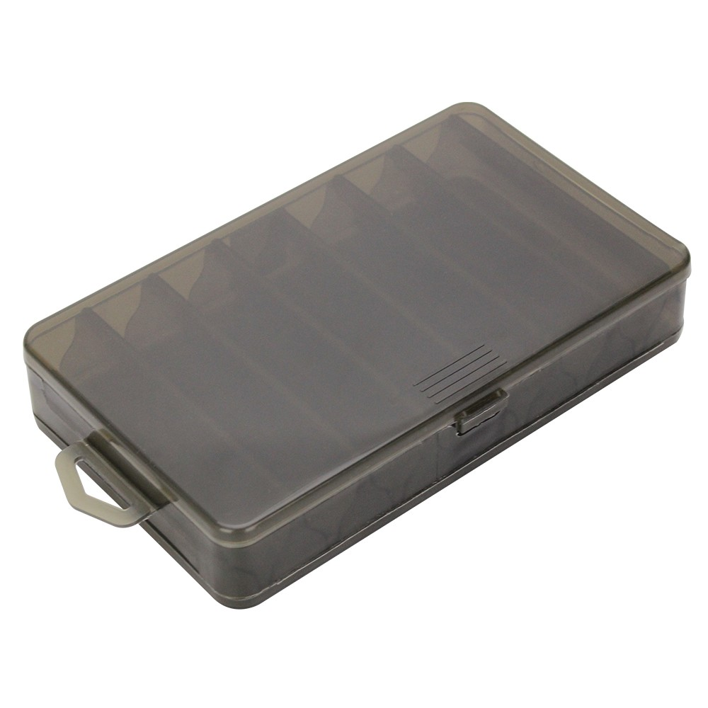 Plastic Fishing Lure Box Double Sided 14 Compartments Bait Box Fishing Tackle Container