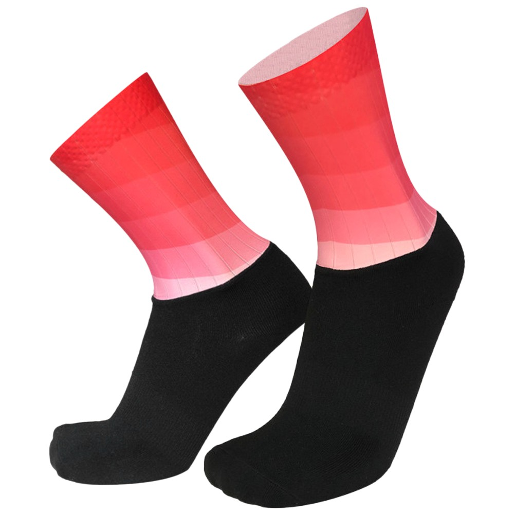 Men Women Gradient Color Socks Silicone Antiskidding Breathable Short Socks for Cycling Running Mountaineering
