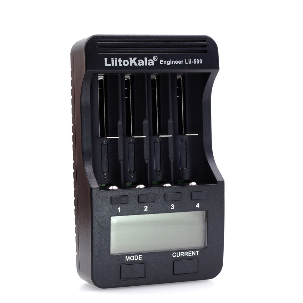 LiitoKala Lii-500 4 Slots LCD Smartest Battery Charger
