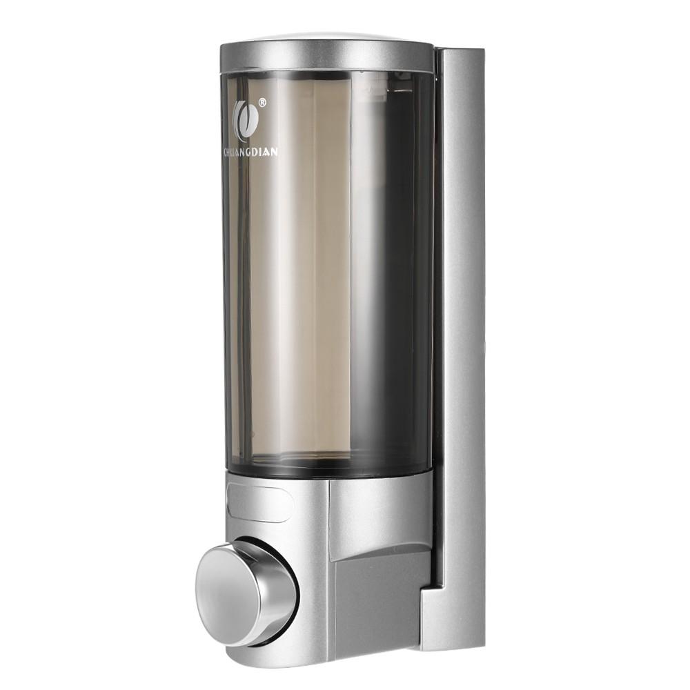 CHUANGDIAN 300ml Wall-mounted Single Bottle Manual Soap Dispenser Shampoo Box Soap Dispenser & Holder Toilet Hand Washing Liquid Shampoo Shower Gel Dispenser