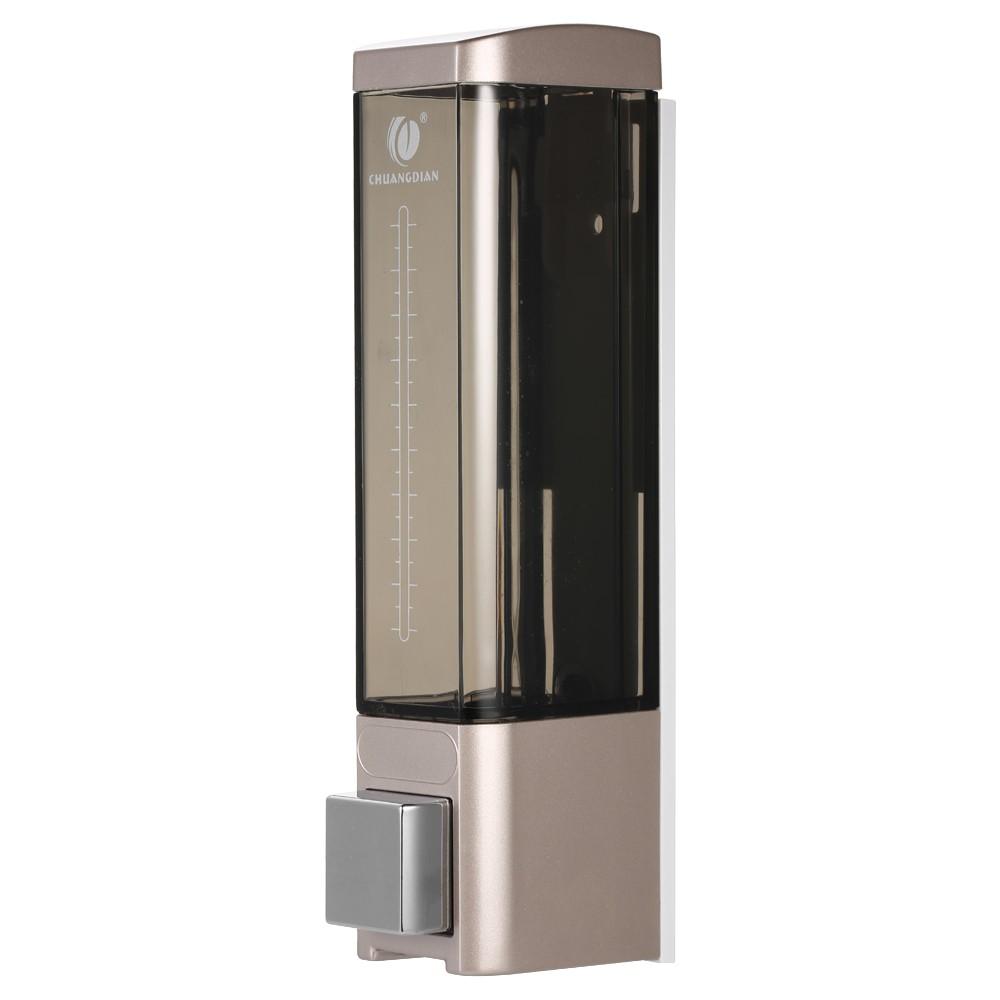 CHUANGDIAN 180ml Wall-mounted Single Bottle Manual Soap Dispenser Shampoo Box Soap Dispenser & Holder Toilet Hand Washing Liquid Shampoo Shower Gel Dispenser