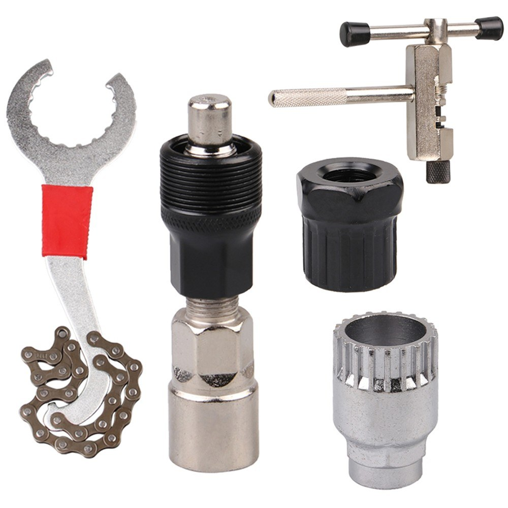 Bicycle Repair Tool Kits Mountain Bike Freewheel Removal Tool Chain Cutter Crank Puller Remover Tools