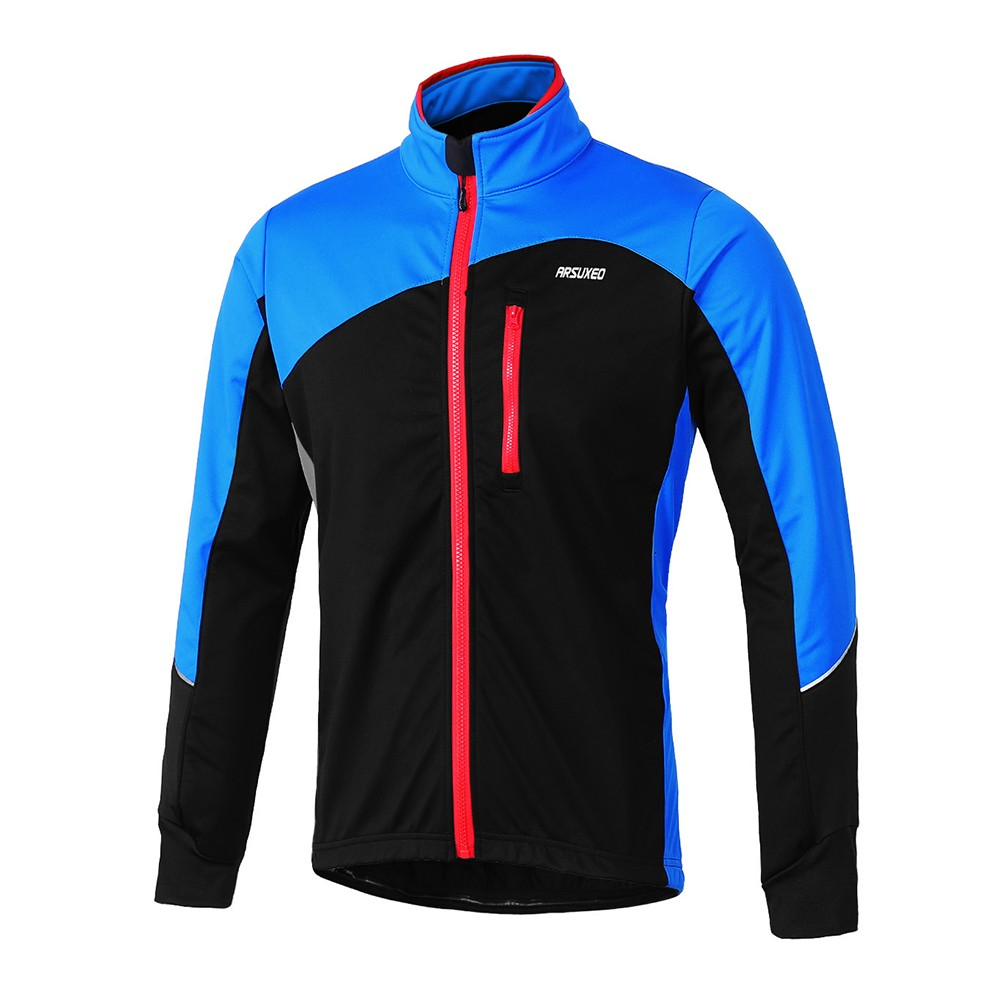 Men Cycling Jacket Windproof Breathable Long Sleeve Bicycle Jersey Coat for Mountain Bike Road Bike