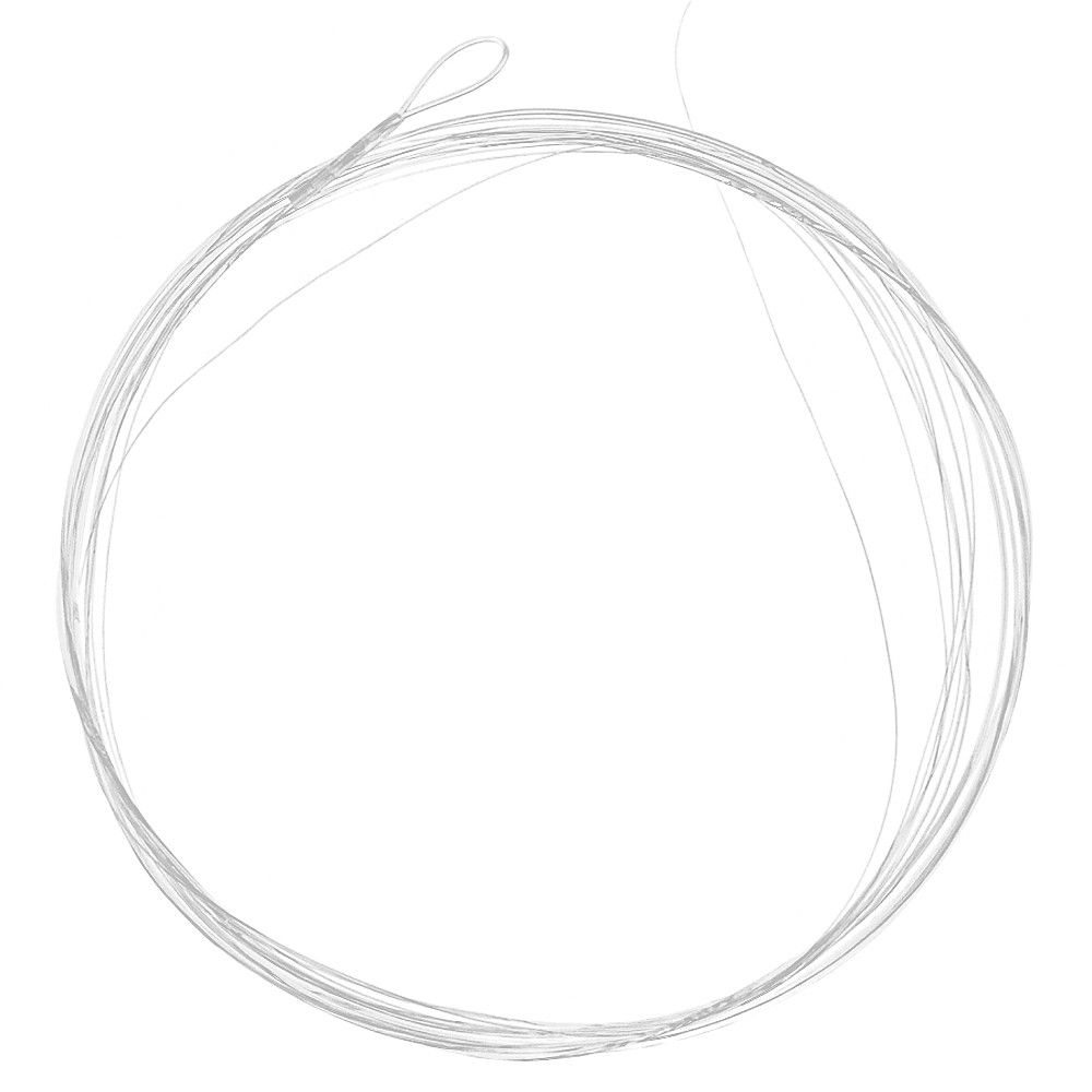5PCS 9ft 3X/5X/6X Tapered Leader with Loop Nylon Leader Clear Fly Fishing Line