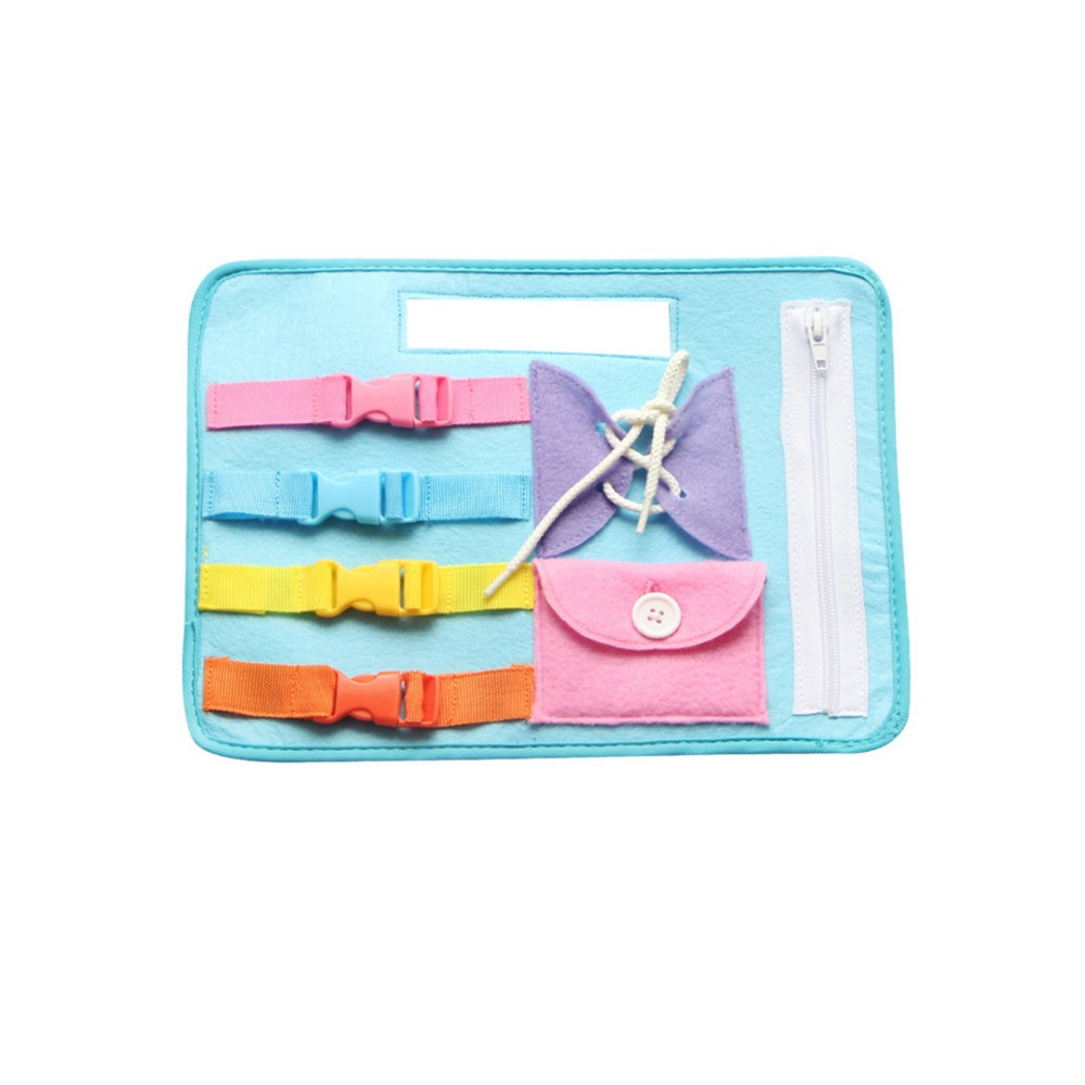 Dressing Button Zipper Learning Board Baby Kids Life Skill Educational Toy