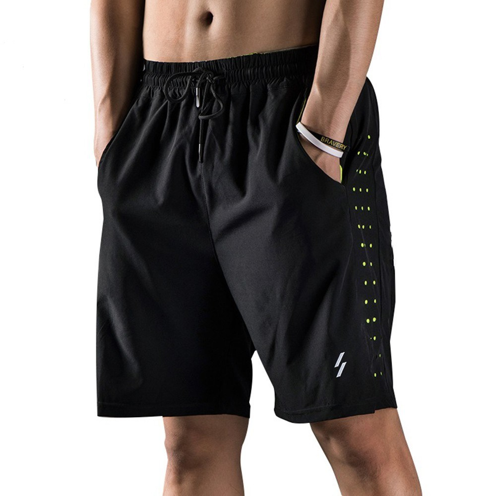 Men Running Shorts Quick Drying Breathable Active Training Exercise Jogging Cycling Shorts with Liner