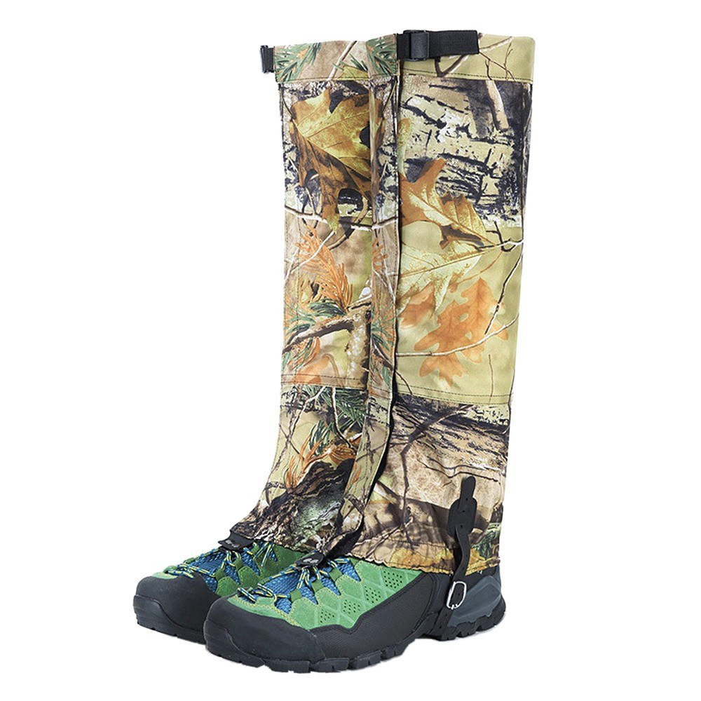 Snow Gaiters Long Camouflage Leg Protection Wrap Waterproof Skiing Snowboarding Shoe Cover