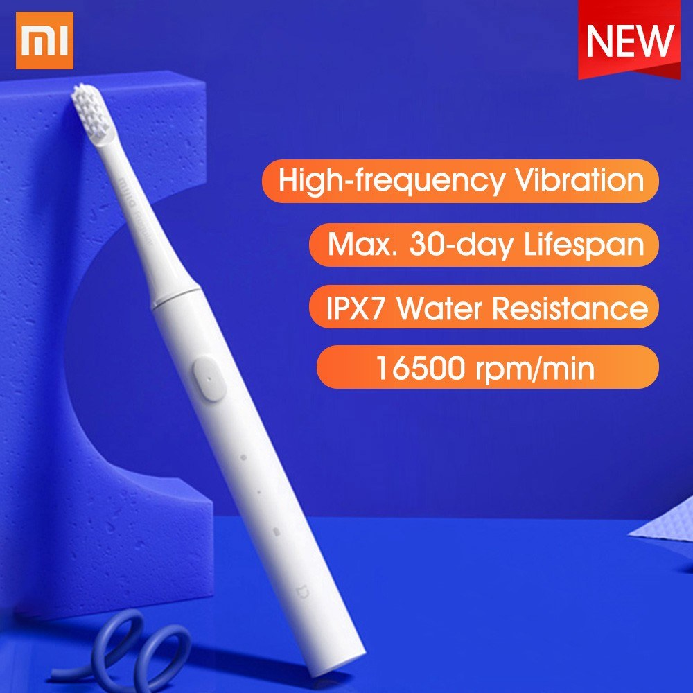 Xiaomi Mijia T100 Sonic Electric Toothbrush Adult Ultrasonic Automatic Toothbrush USB Rechargeable Waterproof Gum Health Tooth Brush with 1 Toothbrush Head