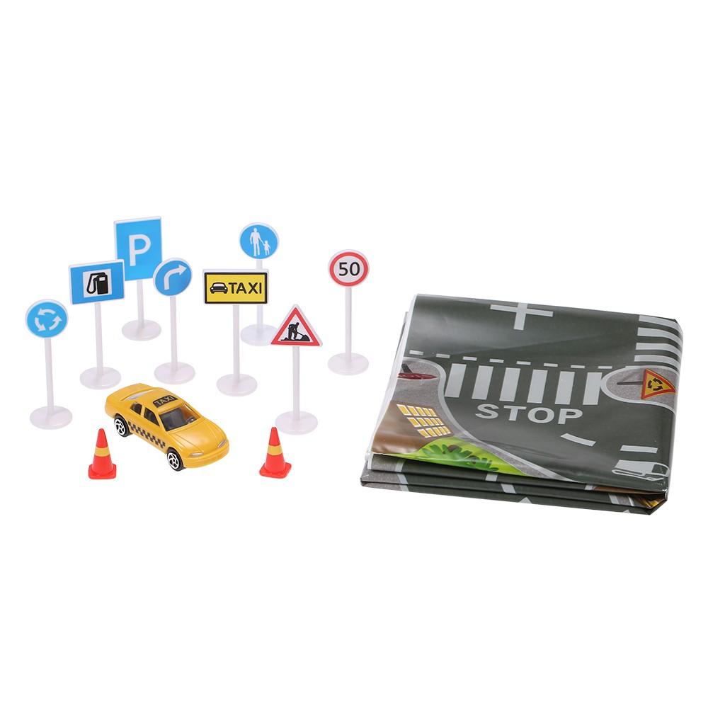 Fun Town Road Play Mat Plastics Toys for Children Kids Portable Gift Present