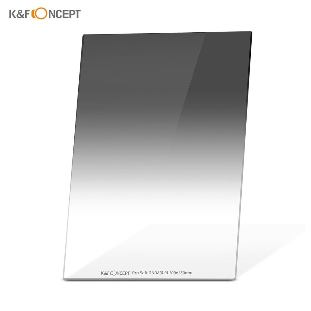 K&F CONCEPT 100*150*2.0mm Pro Soft GND8(0.9) Square Filter 100mm Graduated Neutral Density Filter HD Optical Glass Waterproof Scratch Resistant