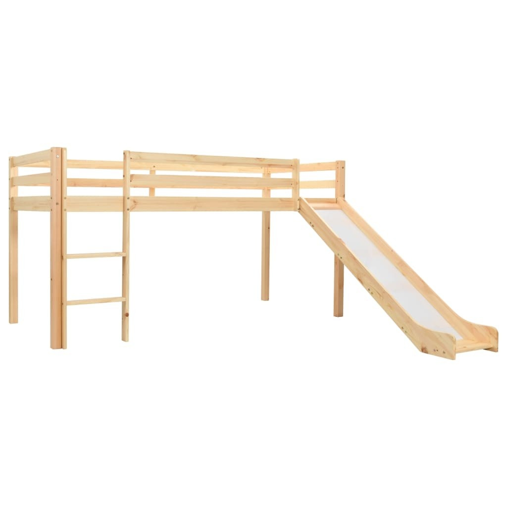 Children's mezzanine bed with slide and ladder Pin 97x208 cm