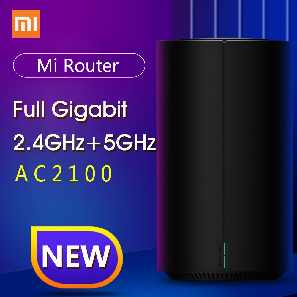 Xiaomi Mi Router AC2100 Wireless Gigabit Ethernet Port 2.4GHz 5GHz WiFi 128Mb 4 High Gain Antennas APP Remote Control Support IPv6 WiFi Repeater 220V