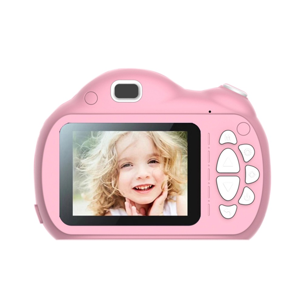 Portable Intelligent Focus Mode Large Screen Children Camera Cartoon Mini Dual Lens Digital Camera For Children Without Storage Card