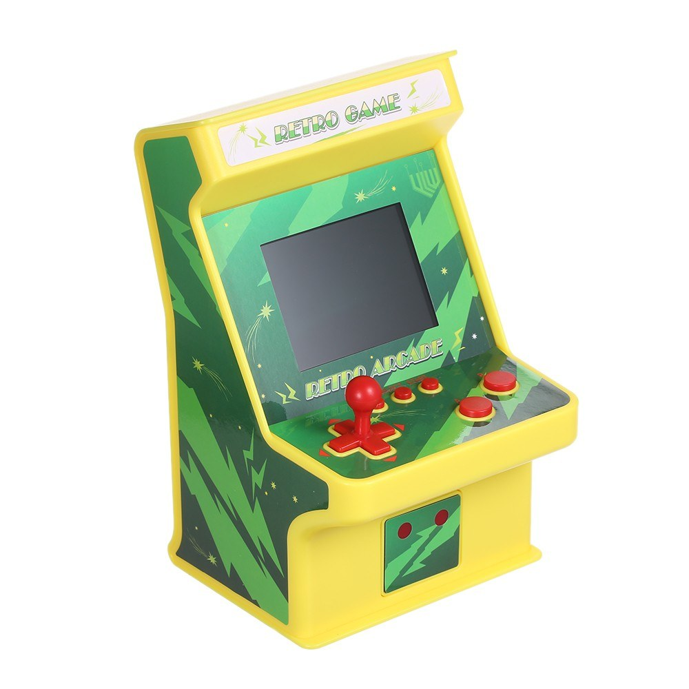Mini Retro Game Cabinet Machine Battery Powered 256 in 1 Classic Arcade Games 8-bit Handheld Video Gaming Console with Gamepad Controller for 2 Players