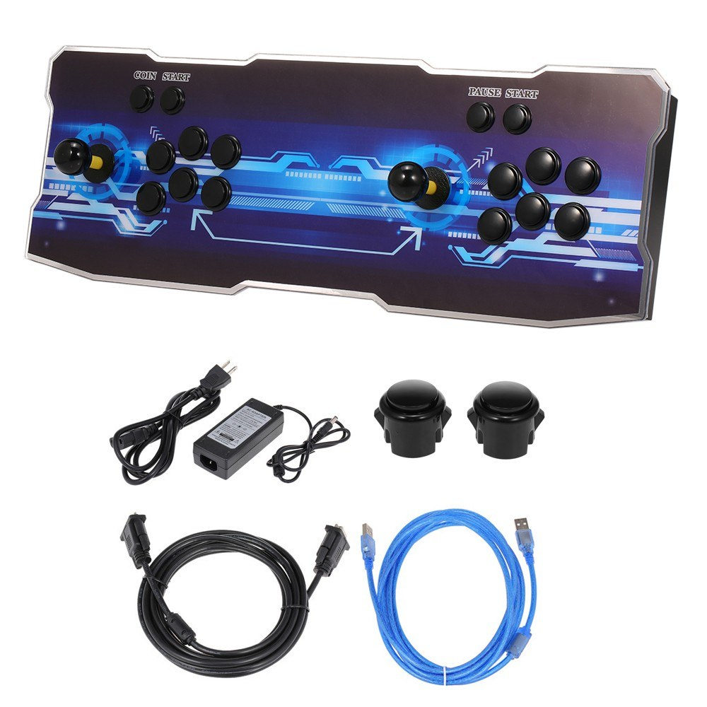 9S+ Arcade Console 2020 in 1 2 Players Control Arcade Games Station Machine Joystick Arcade Buttons HD VGA Output USB for PC TV Laptop