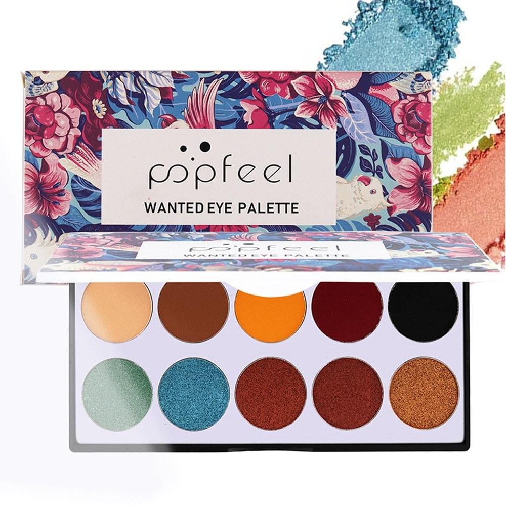 10 Colors Eye Shadow Disc Natural Easy Wearing Waterproof Metal Color Shimmer Matte Eyeshadow Palette Eye Makeup Accessories Charming Colorful Cosmetic