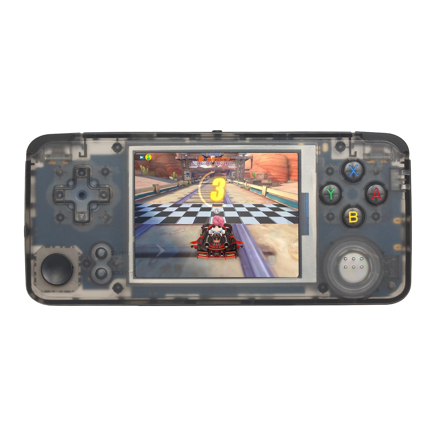 Q9 Handheld Game Console Portable Gaming Machine MP3 Music Player Built-in 3000 Classic Games 1800mAh Battery 3.0 inch IPS Screen AV + 3.5mm Audio Out TF Slot Black