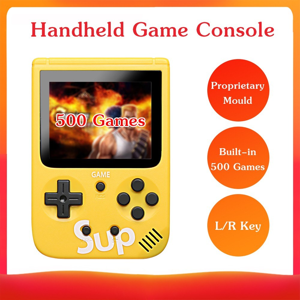 Portable Mini Handheld Game Console Proprietary Mould 8-Bit 3.0in Screen Built-in Classical 500 Games Retro Childhood Handheld Game Console Kid Children Gift