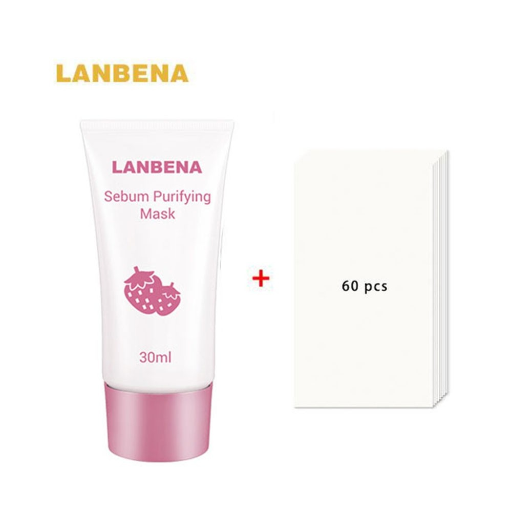LANBENA Strawberry Blackhead Mask Pore Strips Deep Cleaning BlackHeads Acnes Remover Nutural Facial Pore Cleanser