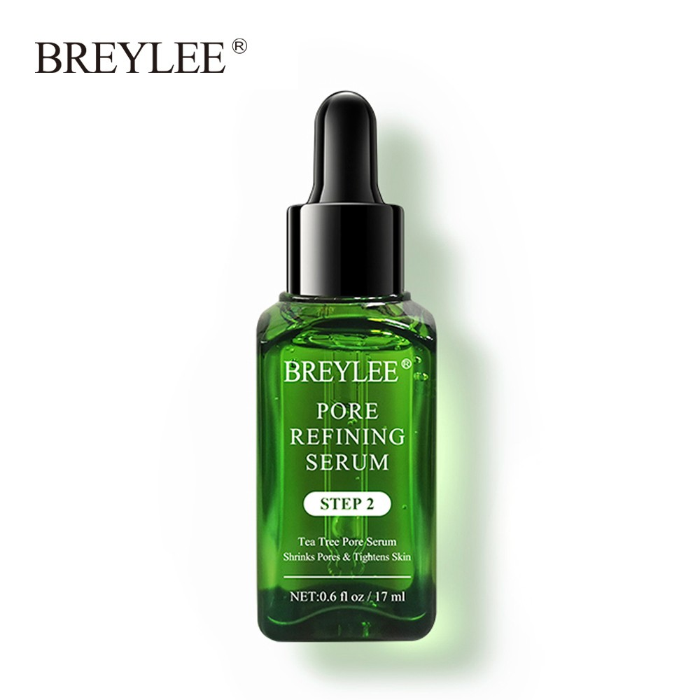 BREYLEE Pore Refining Serum Shrink Pores Tightens Skin Essence Whitening Moisturizing Anti-Aging Oil Control Facial Essence
