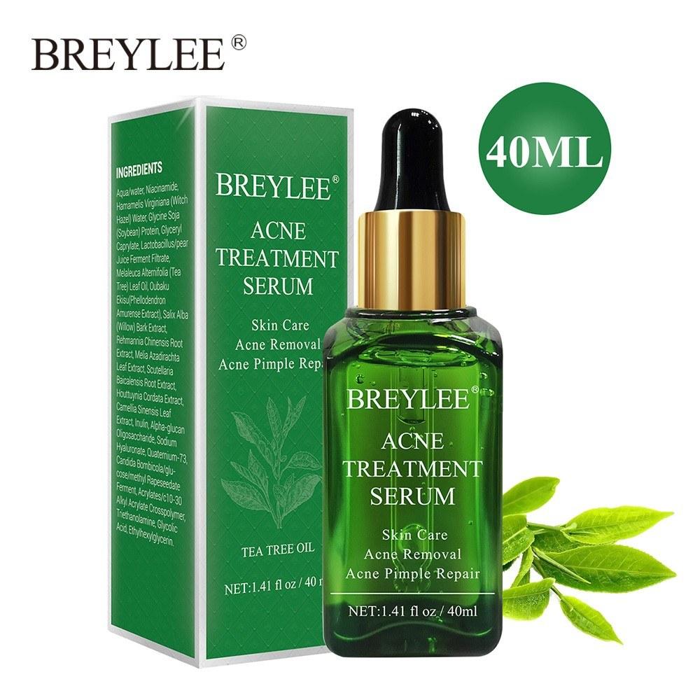 BREYLEE Acne Treatment Serum Facial Essence 40ml Anti Acne Scar Removal Cream Skin Care Whitening Repair Pimple Remover