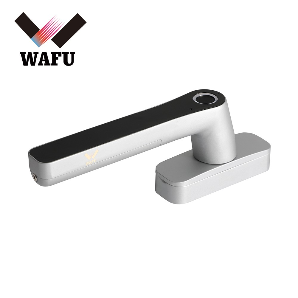 WAFU Smart Fingerprint Lock Keyless Entry Door Window Locks Rechargeable Cordless Security Lock Zinc Alloy Lever Door Lock Suitable for Left & Right Handle for Home Office Apartment