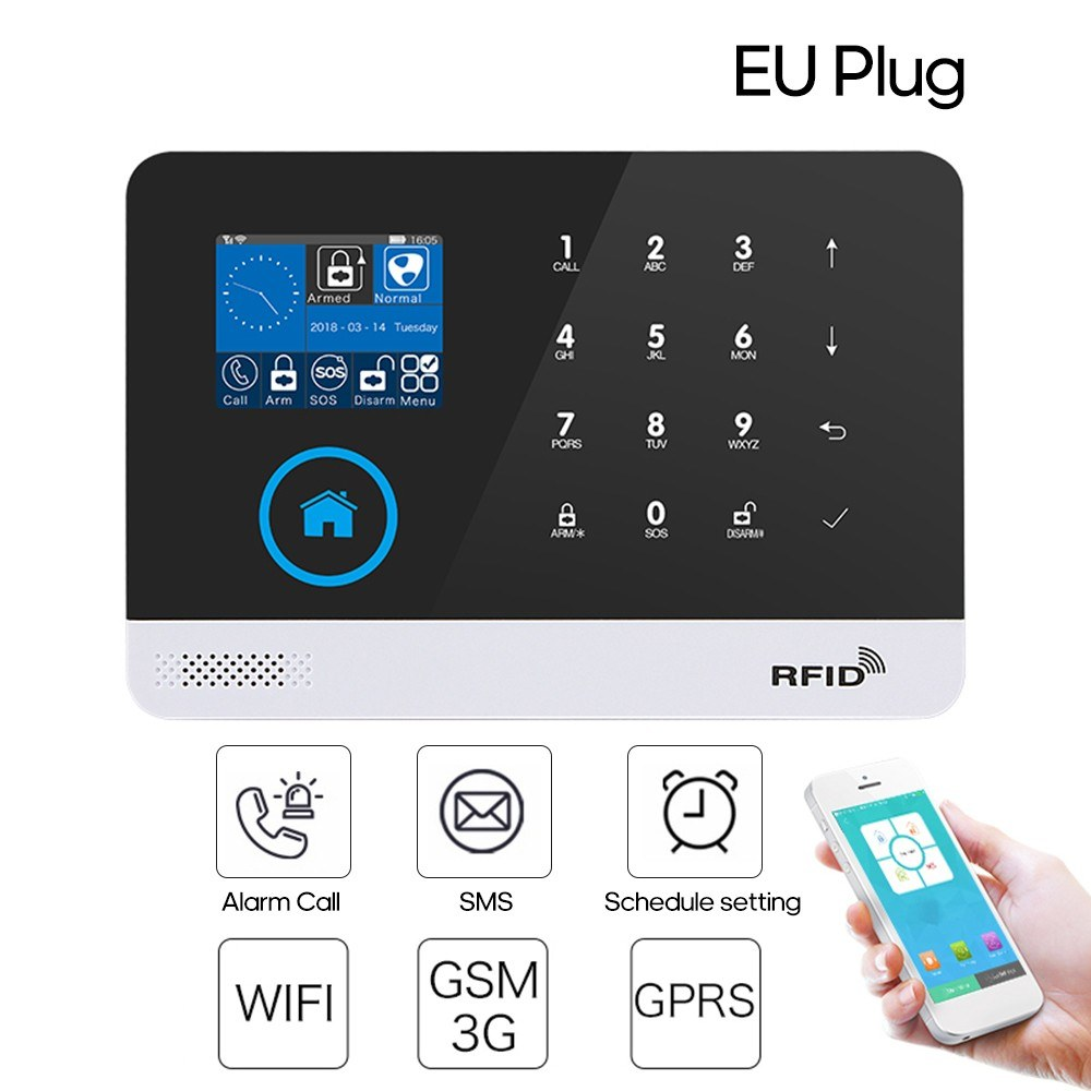 WiFi+GSM Home Alarm System Dual Network Alarm Controller 2.4