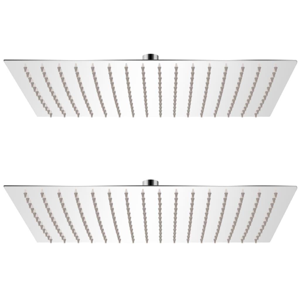 Rainshower heads 2 pcs. Stainless steel 30 x 40 cm