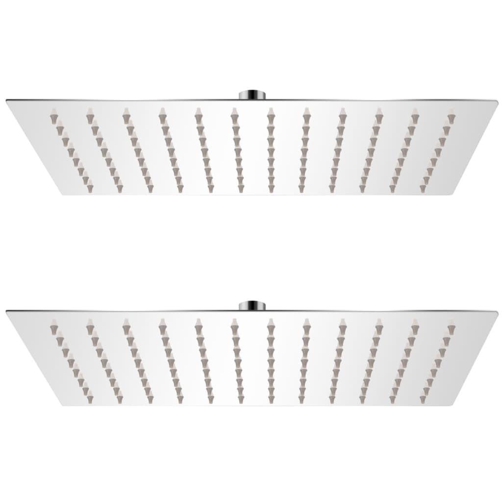 Rainshower heads 2 pcs. Stainless steel 20 x 30 cm