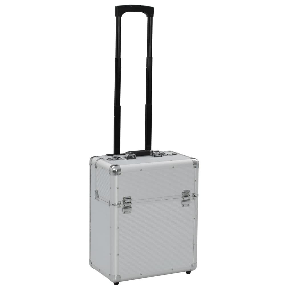 Pilot case 39 x 47 x 25 cm silver aluminum