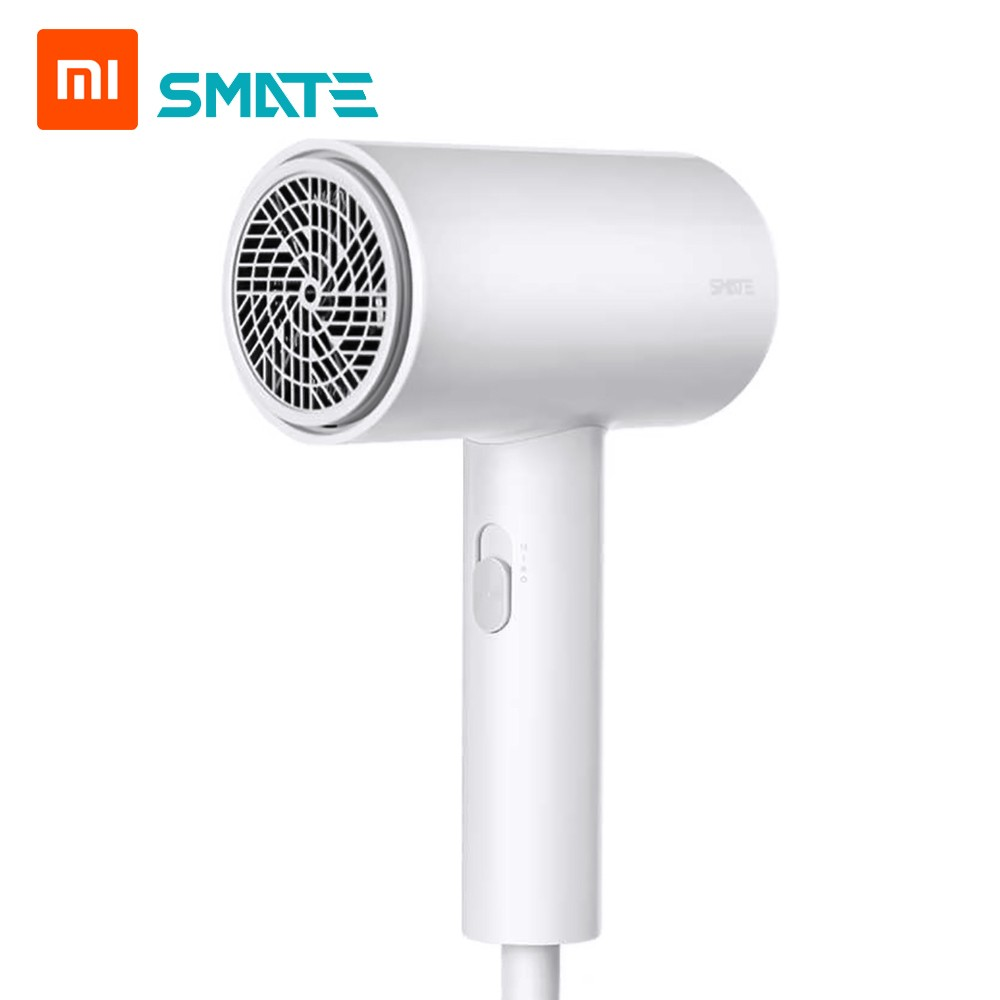 Xiaomi Smate Hair Dryer 1800W Electric Hair Dryer 3 Gears Negative Ions Dual-layer Air Intake Net Overheating Quick-drying Hair Tools for Travel Home 220V