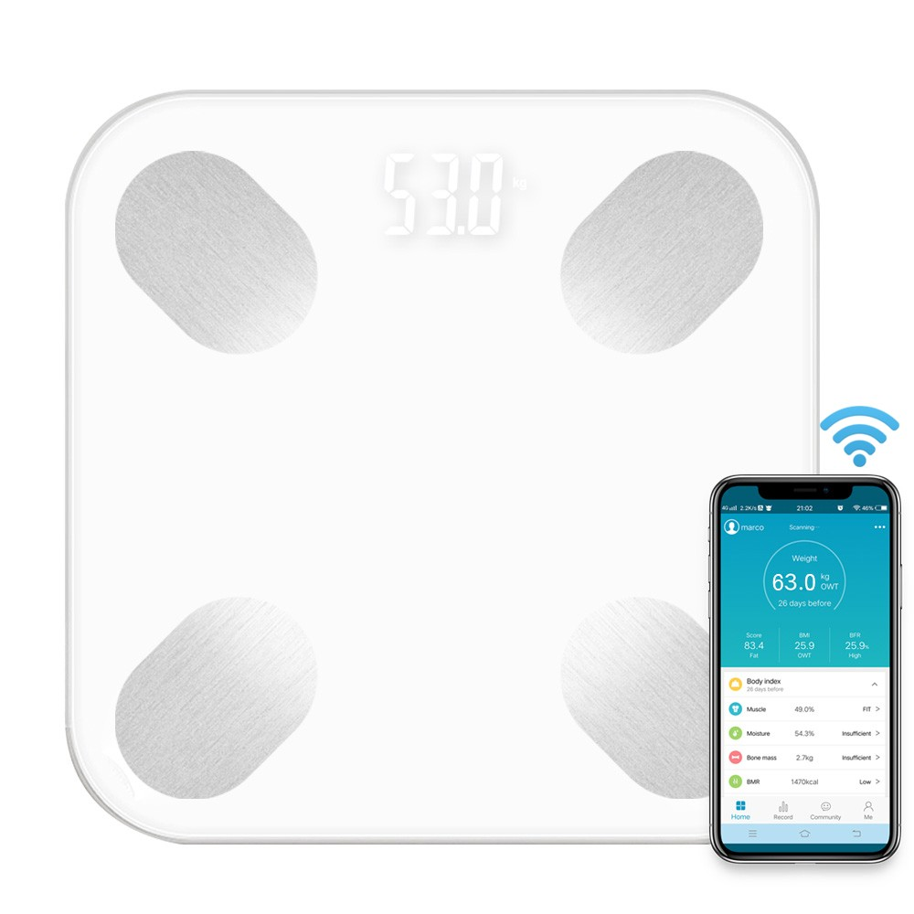 Multi-Functional Body Fat Scales Home Use Intelligent BT Electronic Weight Scale High Precision Sensors Digital BMI Scale Water Mass Health Body Composition Analyzer Monitor