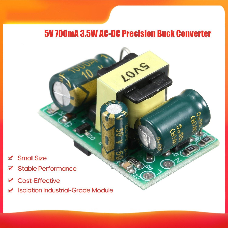 5V 700mA 3.5W AC-DC Precision Buck Converter AC 220V to 5V DC Step Down Transformer Power Supply Module