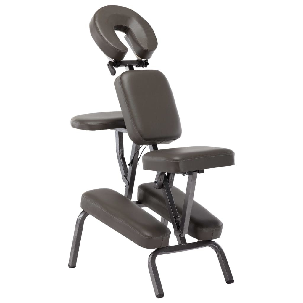 Anthracite leatherette massage chair 122x81x48 cm