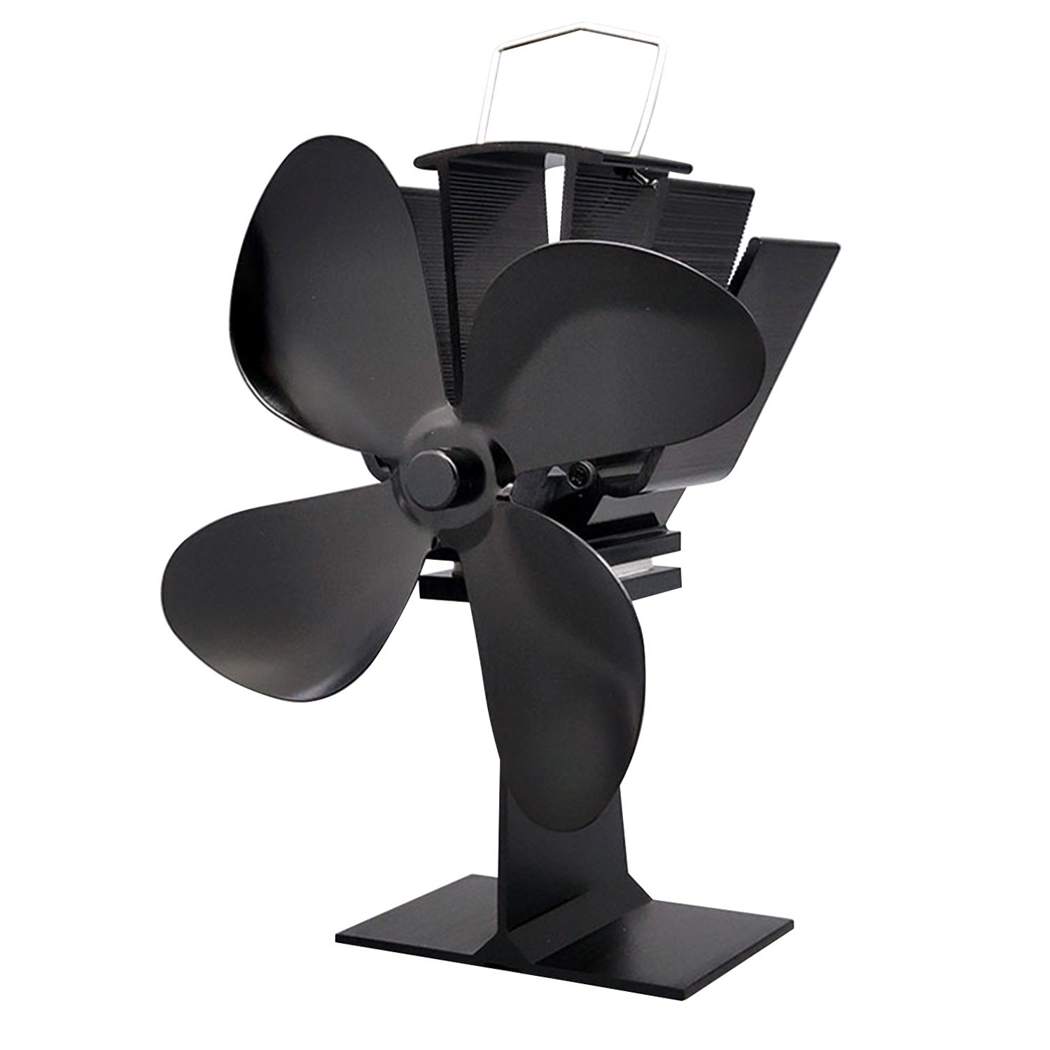4 Blades Heat Powered Stove Fireplace Fan Ultra Quiet Fireplace Wood Log Burning Eco Fan for Efficient Heat Distribution