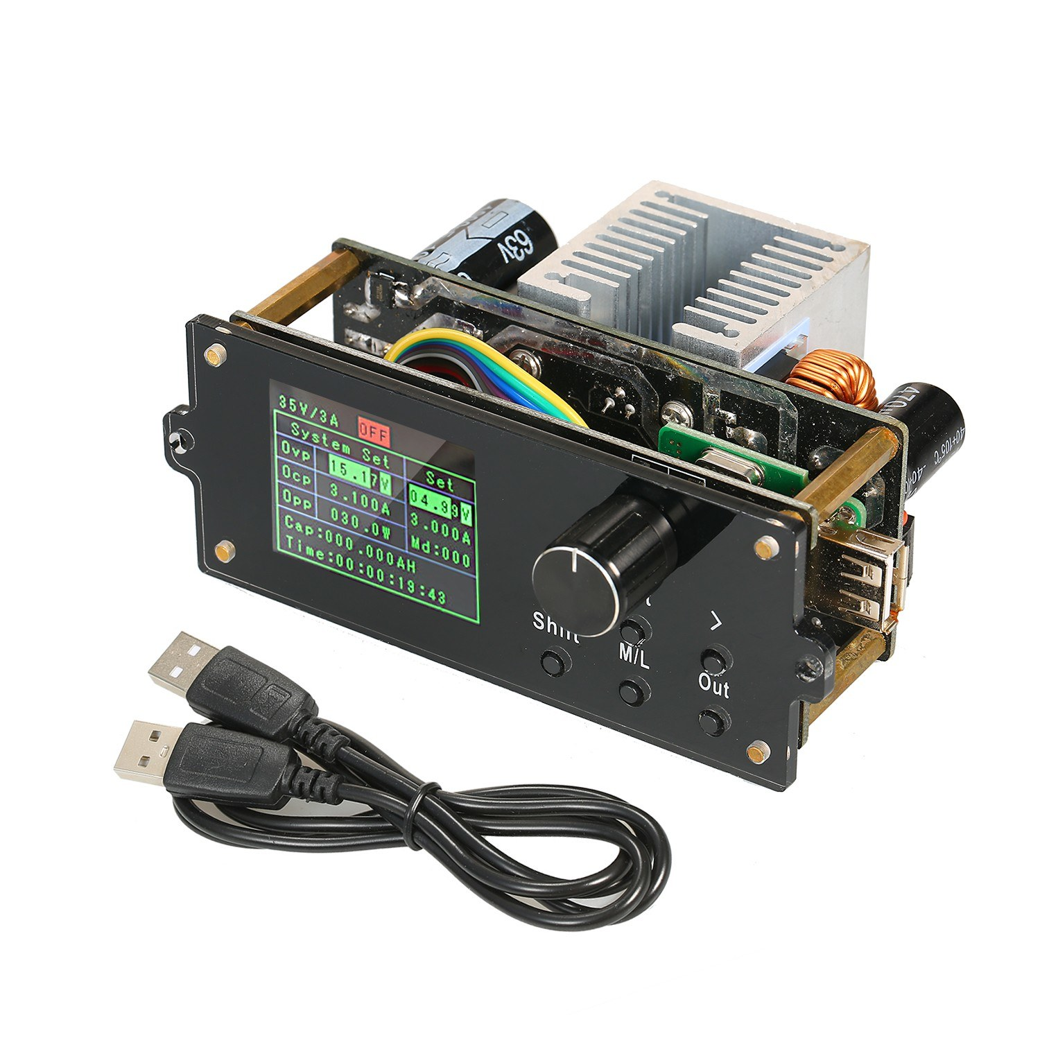 DPX Series 1.8-inch Color Screen Display CNC Adjustable Constant Voltmeter Power Supply Step-down Module Integrated Voltage Ammeter 0-60.00V/0-5.000A  DPX6005S