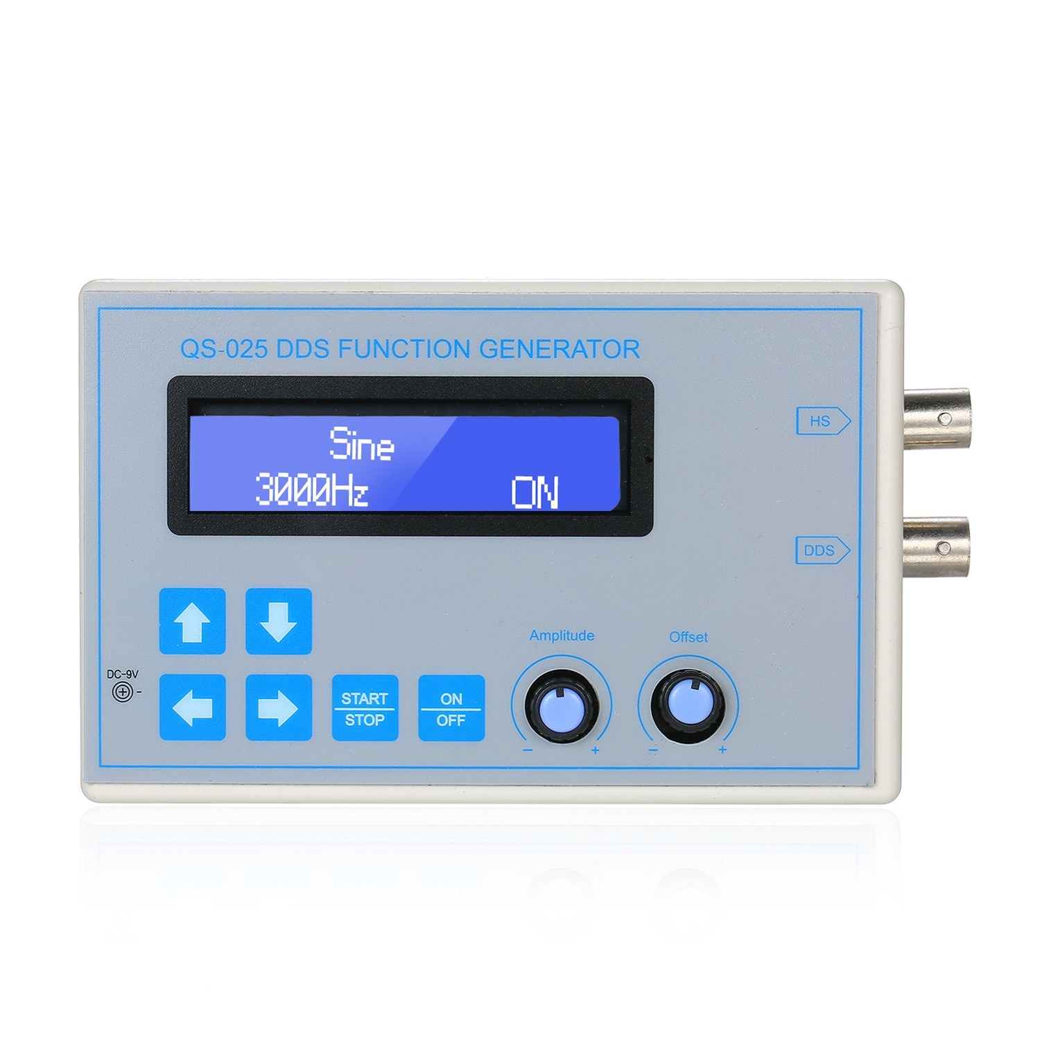 DDS Function Signal Generator Sine Square Triangle Sawtooth Wave Low Frequency LCD Display USB Cable DC9V 1Hz-65534Hz