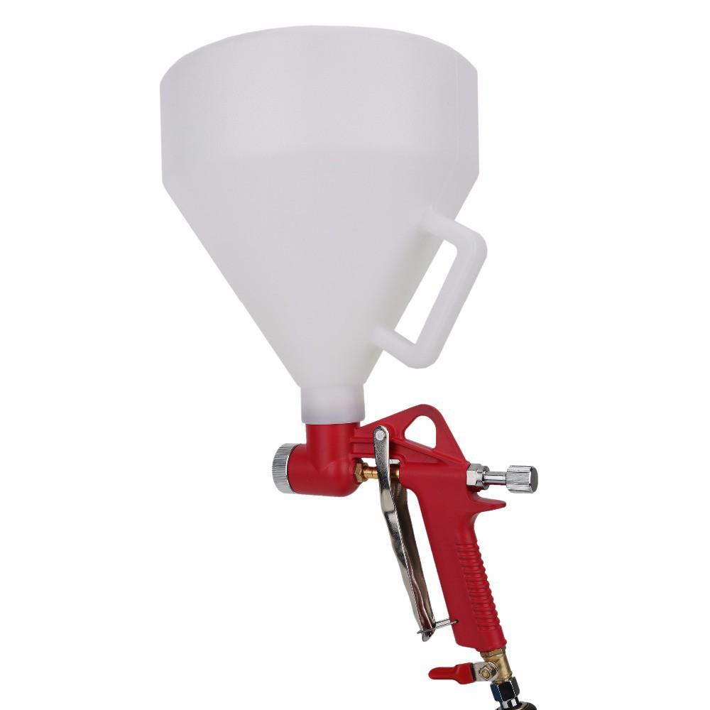 Air Hopper Spray Gun Paint Texture Tool Air Spray Gun Drywall Wall Painting Sprayer 1.45 Gallon Hopper with Handle with 3 Nozzles