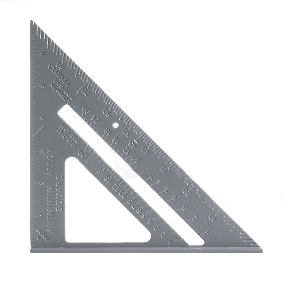 6.5in Aluminum Alloy Triangle Rulers Protractor Miter Framing Measurement Ruler For Carpenter