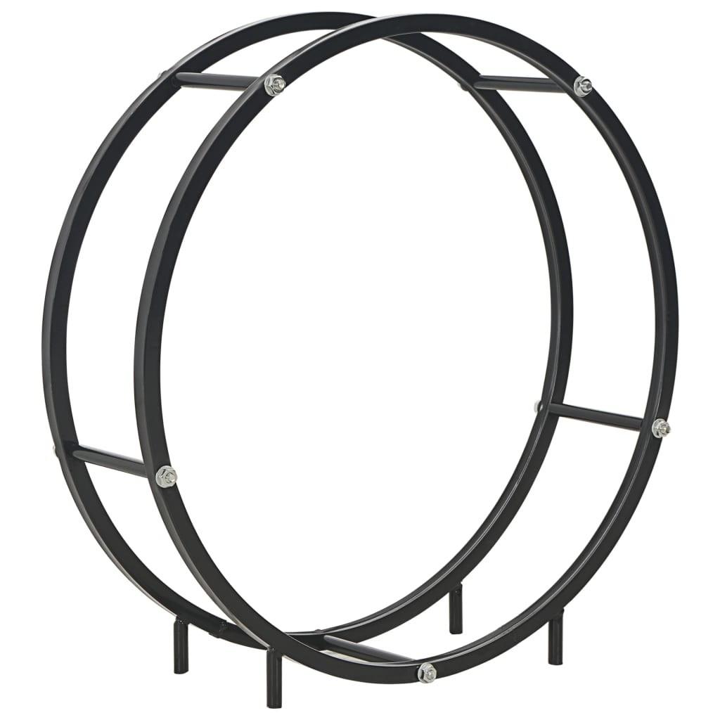 Firewood rack Black 70 x 20 x 70 cm steel